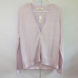 Loft Women's Small NWT Wool Blend Pink Cardigan